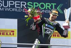 Podium: winner Randy Krummenacher, Puccetti Racing Kawasaki