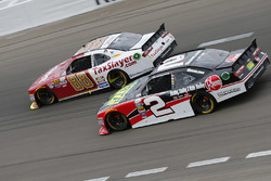 Chase Elliott, JR Motorsports Chevrolet; Austin Dillon, Richard Childress Racing Chevrolet