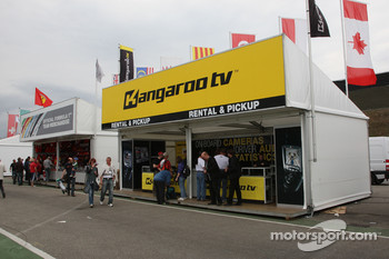 Kangaroo TV F1 merchandise area