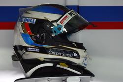 Nick Heidfeld, BMW Sauber F1 Team, helmet