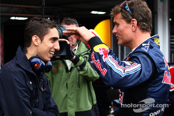 Sebastien Buemi, Test Driver, Red Bull Racing and David Coulthard, Red Bull Racing