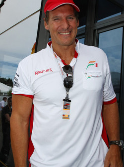 Ralf Moller, Actor with Adrian Sutil, Force India F1 Team and Giancarlo Fisichella, Force India F1 Team