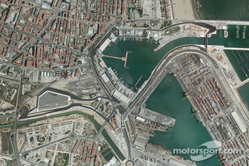 Valencia Grand Prix Circuit aerial view