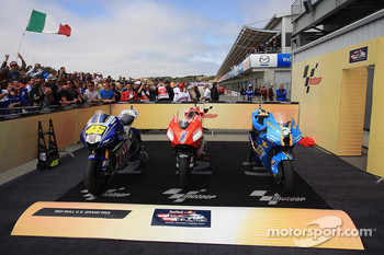 The top-3 bikes in parc ferm
