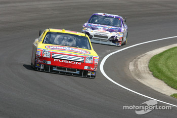 Marcos Ambrose and Jeff Burton