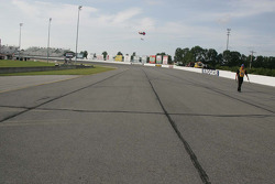 Groves run in the track at O'Reilly Raceway Park at Indianapolis