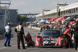 Pit stop for #7 Rum Bum Racing BMW Riley: Matt Plumb, Gene Sigal