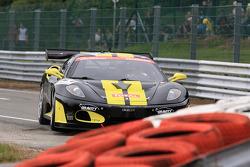 #121 Exagon Engineering Ferrari 430 GT3: Daniel Desbrueres, Catherine Desbrueres, Eric Hélary, Vincent Radermecker