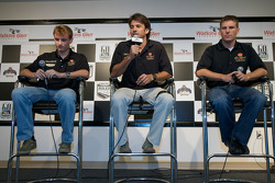 Crown Royal press conference: Antonio Garcia, Christian Fittipaldi and Jamie McMurray