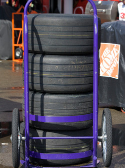 Rain tires ready to go