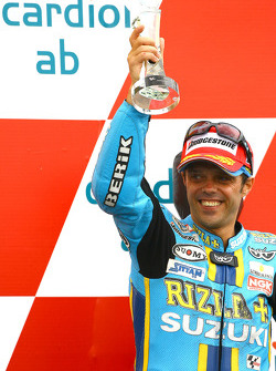 Podium: third place Loris Capirossi