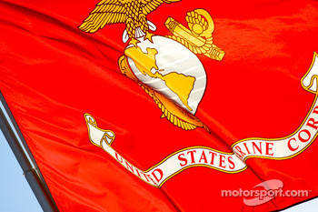 Marine Corp flag on the APR Motorsport transporter