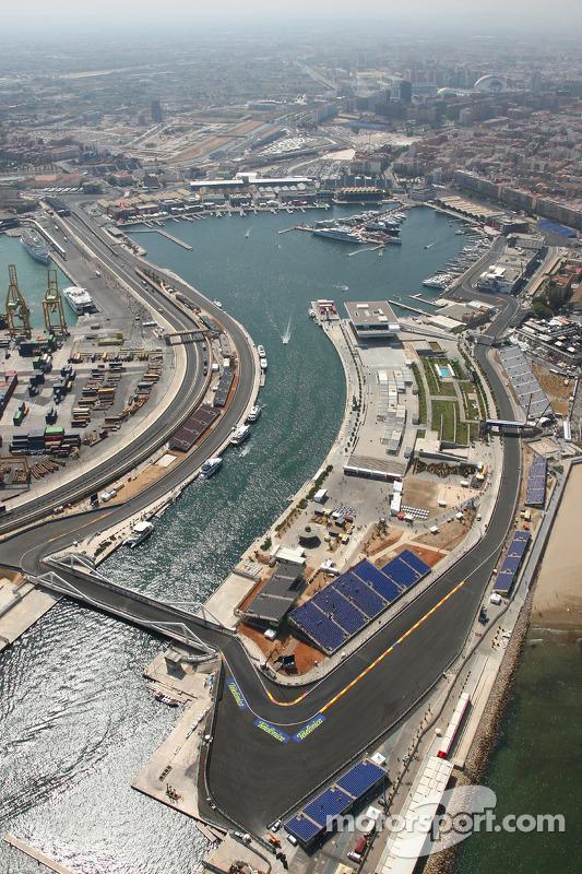 Valencia Street Circuit, Aerial View