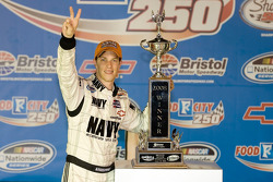 Victory lane: race winner Brad Keselowski