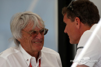 Bernie Ecclestone, President and CEO of Formula One Management, David Coulthard, Red Bull Racing