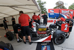 Vision Racing car of A.J. Foyt IV at technical inspection