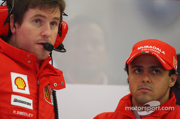 Felipe Massa, Scuderia Ferrari and Rob Smedly, Scuderia Ferrari, Track Engineer of Felipe Massa