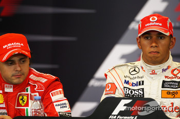 Post-qualifying press conference: pole winner Lewis Hamilton, second place Felipe Massa