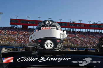 The Jack Daniels helmet sits atop the Jack Daniel Chevrolet