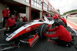 The ART Grand Prix practice pit stops