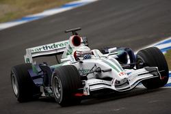 Riccardo Patrese tests the Honda RA107