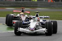 Robert Kubica, BMW Sauber F1 Team, F1.08 and Lewis Hamilton, McLaren Mercedes, MP4-23