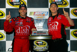 Race winner Greg Biffle with crew chief Greg Erwin