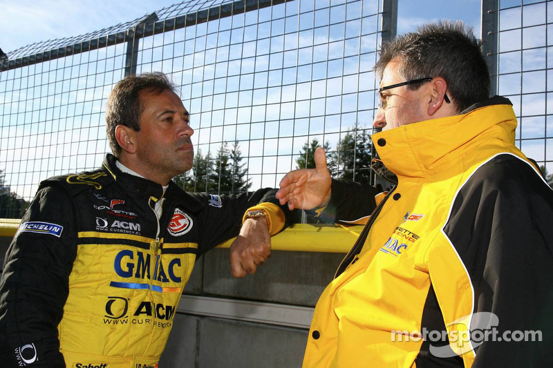 Jean-Denis Deletraz and Ernst Moser, team principal Team Phoenix Racing