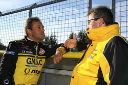 Jean-Denis Deletraz and Ernst Moser, team principal Team Phoenix Racing