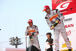 GT500 podium: second place Ralph Firman and Takuya Izawa