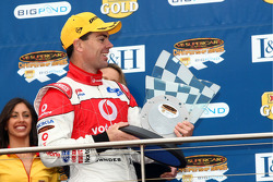 Podium: Craig Lowndes and Jamie Whincup take second