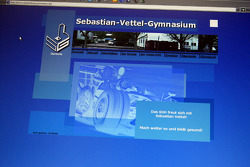 Sebastian Vettel's home town visit in Heppenheim, Germany: screen shot of the Starkenburg Gymnasium's home page