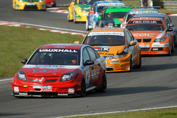 Matt Neal leads Gordon Shedden and Stephen Jelley