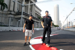 Sébastien Bourdais and race engineer Claudio Balestri during the track walk
