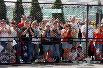 The fans wait to see their favorite drivers