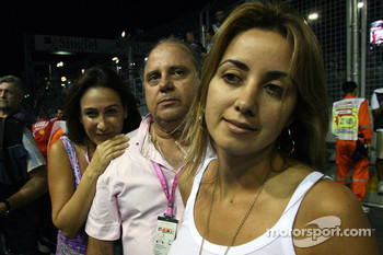 Rafaela Bassi, Girl Friend, Wife of Felipe Massa Luis Antonio Massa, Father of Felipe Massa, Scuderia Ferrari and Ana Helena, Mother of Felipe Massa, Scuderia Ferrari