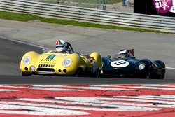 #17 Neil Twyman, and Joe Twyman, Lotus 11 Series 2; #9 Benjamin Eastick, Jaguar D Type