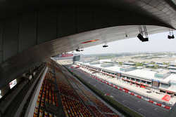 The grandstands and the circuit