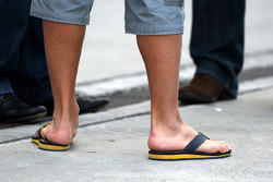 The footwear of Fernando Alonso, Renault F1 Team