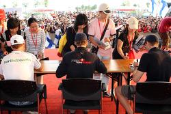 Rubens Barrichello, Sebastian Vettel and Sébastien Bourdais