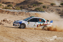 #14 Damas Rally Team Mitsubishi Lancer Evo 8: Faris Bustami and Ramzi Mansour