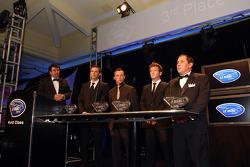 3rd place drivers champions - Johannes van Overbeek, Patrick Pilet, Pat Long, Richard Berry