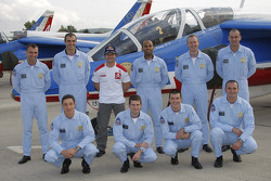 Sébastien Loeb with the Patrouille de France