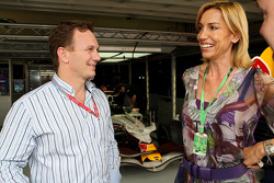 Christian Horner and Anita Gerhardter in the garage