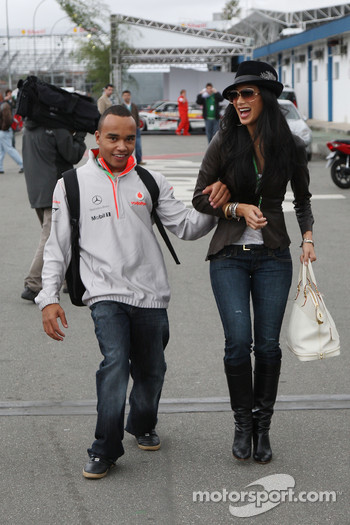 Nicholas Hamilton, Brother of Lewis Hamilton, McLaren Mercedes, Nicole Scherzinger, Singer in the Pussycat Dolls, girlfriend of Lewis Hamilton, McLaren Mercedes
