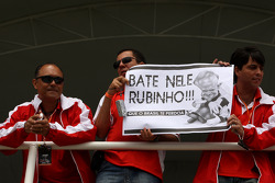 Rubens Barrichello, Honda Racing F1 Team, banner