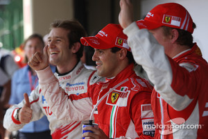 Jarno Trulli and Kimi Raikkonen in 2008