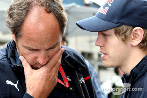 Gerhard Berger and Sebastian Vettel