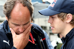Gerhard Berger and Sebastian Vettel