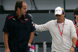 Gerhard Berger, Scuderia Toro Rosso, 50% Team Co Owner and Nelson Piquet